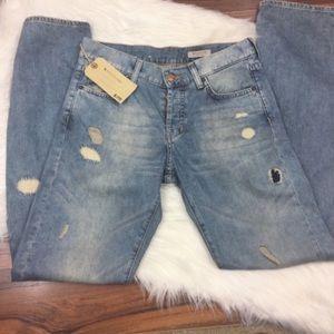 H & M distressed boyfriend loose fit jeans NWT